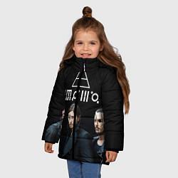 Детская зимняя куртка для девочки с принтом 30 seconds to mars, цвет: 3D-черный, артикул: 10063908806065 — фото 2