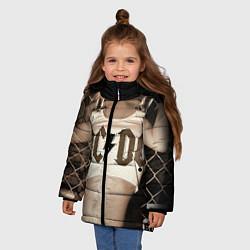 Куртка зимняя для девочки AC/DC Girl цвета 3D-черный — фото 2