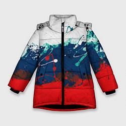 Куртка зимняя для девочки Триколор РФ - фото 1