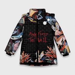 Куртка зимняя для девочки Pink Floyd: The Wall цвета 3D-черный — фото 1