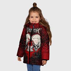 Куртка зимняя для девочки BFMV: Duo Skulls цвета 3D-черный — фото 2