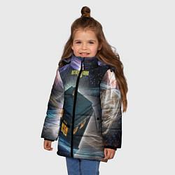 Куртка зимняя для девочки Police Box цвета 3D-черный — фото 2