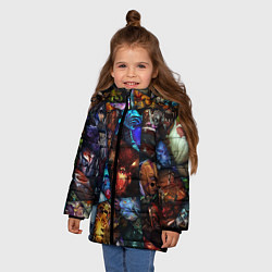 Куртка зимняя для девочки Dota 2: All Pick цвета 3D-черный — фото 2