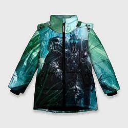 Детская зимняя куртка для девочки с принтом Король Лич, цвет: 3D-черный, артикул: 10065053606065 — фото 1