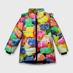 Зимняя куртка для девочки Мармеладные мишки