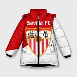 Детская зимняя куртка для девочки с принтом Sevilla FC, цвет: 3D-черный, артикул: 10065164906065 — фото 1