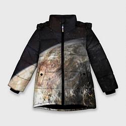 Куртка зимняя для девочки Плутон цвета 3D-черный — фото 1
