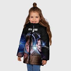 Детская зимняя куртка для девочки с принтом Одиннадцатый Доктор, цвет: 3D-черный, артикул: 10065373106065 — фото 2