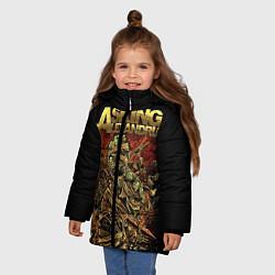 Куртка зимняя для девочки Asking Alexandria цвета 3D-черный — фото 2