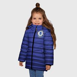 Куртка зимняя для девочки Chelsea: Drogba цвета 3D-черный — фото 2