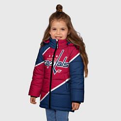 Детская зимняя куртка для девочки с принтом Washington capitals, цвет: 3D-черный, артикул: 10071133406065 — фото 2
