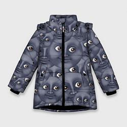 Куртка зимняя для девочки Эмодзи цвета 3D-черный — фото 1