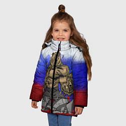 Куртка зимняя для девочки Русский медведь - фото 2