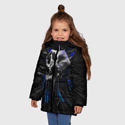 Куртка зимняя для девочки Череп цвета 3D-черный — фото 2