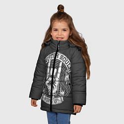 Куртка зимняя для девочки Sinister Souls: Horns Up цвета 3D-черный — фото 2