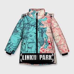 Куртка зимняя для девочки Linkin Park: Sky Girl цвета 3D-черный — фото 1