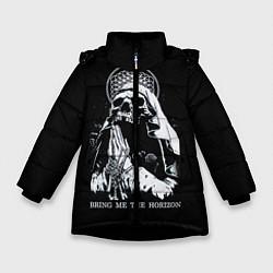 Куртка зимняя для девочки BMTH: Skull Pray цвета 3D-черный — фото 1