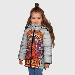 Куртка зимняя для девочки Freddy Pizza цвета 3D-черный — фото 2
