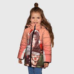 Куртка зимняя для девочки Аниме цвета 3D-черный — фото 2