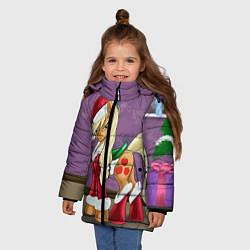 Детская зимняя куртка для девочки с принтом Pinky Pie: Xmas, цвет: 3D-черный, артикул: 10076390606065 — фото 2