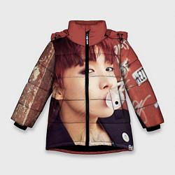 Детская зимняя куртка для девочки с принтом J-Hope, цвет: 3D-черный, артикул: 10076886506065 — фото 1