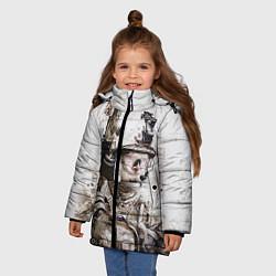 Куртка зимняя для девочки ФСБ Альфа цвета 3D-черный — фото 2