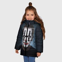 Куртка зимняя для девочки Clown House MD цвета 3D-черный — фото 2