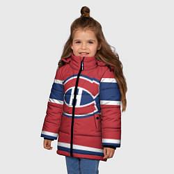 Куртка зимняя для девочки Montreal Canadiens цвета 3D-черный — фото 2