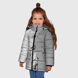 Куртка зимняя для девочки Статуя Свободы цвета 3D-черный — фото 2
