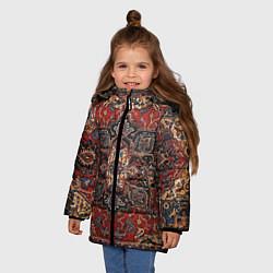 Куртка зимняя для девочки Модный ковер цвета 3D-черный — фото 2