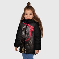 Куртка зимняя для девочки Money Mops цвета 3D-черный — фото 2