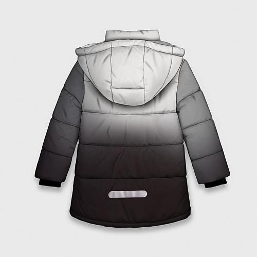 Зимняя куртка для девочки АлисА: Трасса E95 / 3D-Черный – фото 2
