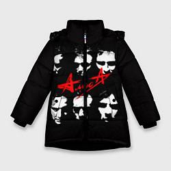 Куртка зимняя для девочки Группа АлисА цвета 3D-черный — фото 1