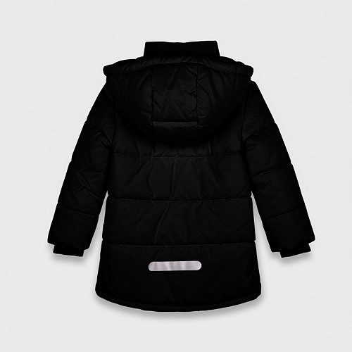 Зимняя куртка для девочки Кипелов: Ария / 3D-Черный – фото 2
