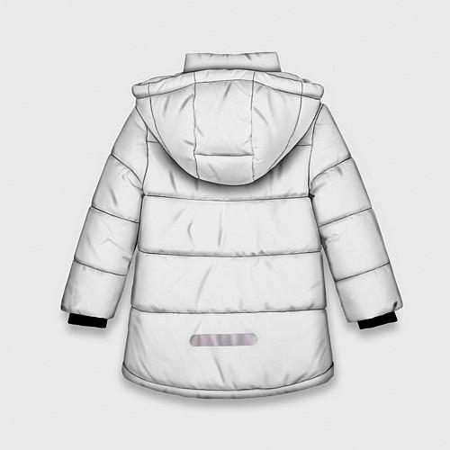 Зимняя куртка для девочки Кино: Виктор Цой / 3D-Черный – фото 2