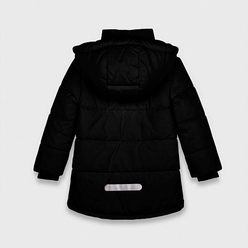 Зимняя куртка для девочки Есенин Ч/Б / 3D-Черный – фото 2