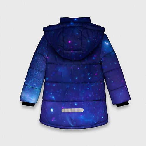 Зимняя куртка для девочки Лев SWAG / 3D-Черный – фото 2