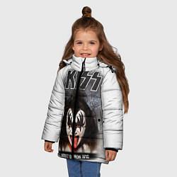 Куртка зимняя для девочки KISS: Adult demon wig цвета 3D-черный — фото 2