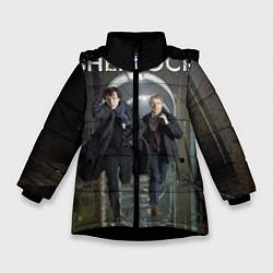 Куртка зимняя для девочки Sherlock Break цвета 3D-черный — фото 1