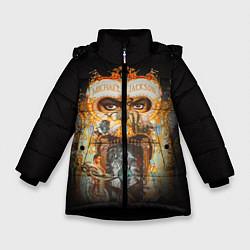 Куртка зимняя для девочки Michael Jackson Show цвета 3D-черный — фото 1