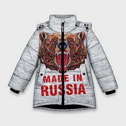 Куртка зимняя для девочки Bear: Made in Russia цвета 3D-черный — фото 1