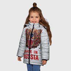 Куртка зимняя для девочки Bear: Made in Russia - фото 2
