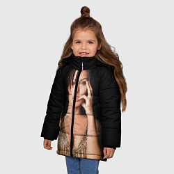 Куртка зимняя для девочки Angelina Jolie цвета 3D-черный — фото 2