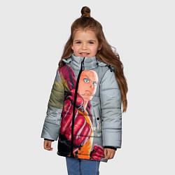 Куртка зимняя для девочки One Punch Man Fist цвета 3D-черный — фото 2