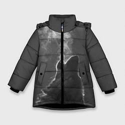 Куртка зимняя для девочки Воющий волк цвета 3D-черный — фото 1