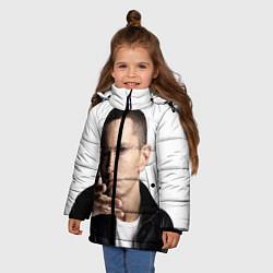 Куртка зимняя для девочки Eminem цвета 3D-черный — фото 2