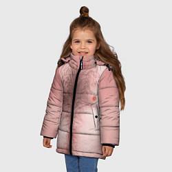 Куртка зимняя для девочки Загорелый торс цвета 3D-черный — фото 2