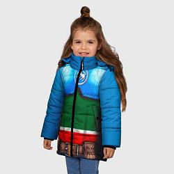 Детская зимняя куртка для девочки с принтом Капитан Татарстан, цвет: 3D-черный, артикул: 10086777806065 — фото 2