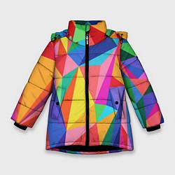 Куртка зимняя для девочки Радуга цвета 3D-черный — фото 1