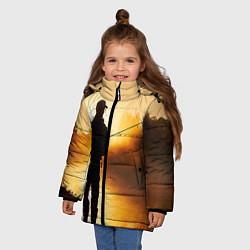 Куртка зимняя для девочки Вечерний рыбак цвета 3D-черный — фото 2